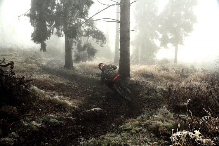 ...klassische Winterbedingungen bei uns: Ganz oben etws Schnee, in der Mitte feucht, unten trocken...Hauptsache Spaß am Bike ;) Pic: The Gap Coaching