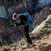 ...aus der Gravityszene hinter die Kamera - Downhiller Wendi Hirzberger fing für uns die bewegten Bilder ein...ein fettes Danke dafür! Robert Köberl/Schöcklblickkamera