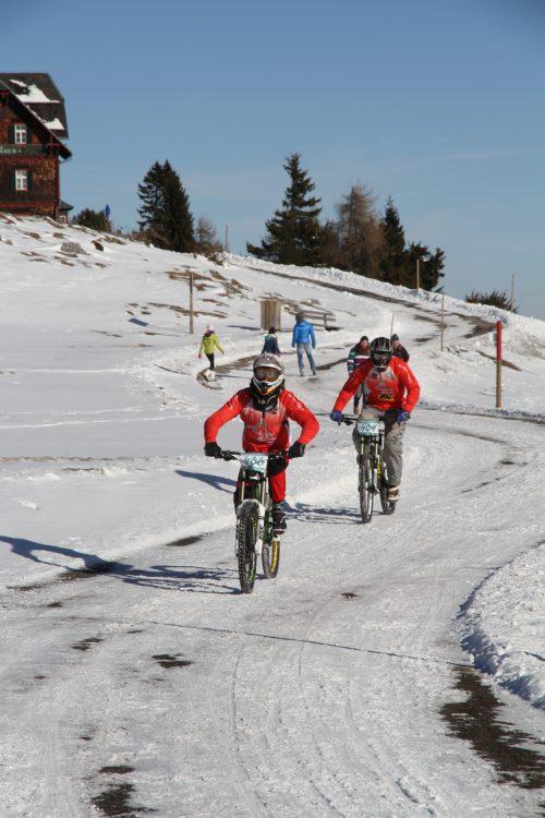 ...der Schöckl im Jänner und Februar...Big Bikes einwintern macht keinen Sinn ;) Pic: The Gap Coaching