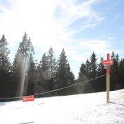 ...ist nach dem ersten Turn zu viel Schnee eingewäht geht´s die ersten 200 Meter außen rum...
